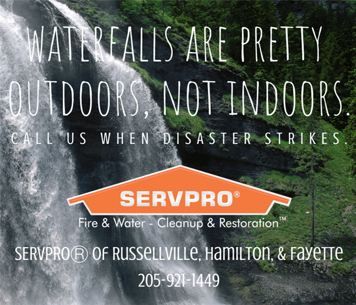 Water Damage Waterfalls are Pretty Outdoors, Not Indoors